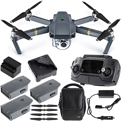 DJI Mavic Pro Quadcopter Drone Combo Pack con 4 K Cámara y Wi-Fi + ...