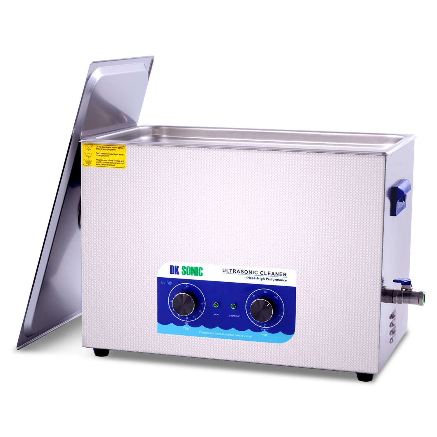 Large Commercial Ultrasonic Cleaner - DK SONIC 30L 600W Sonic Cleaner with Heater and Basket for Metal Parts,Carburetor,Fuel Injector,Brass,Auto Parts,Engine Parts,Motor Repair Tools,etc by DK SONIC