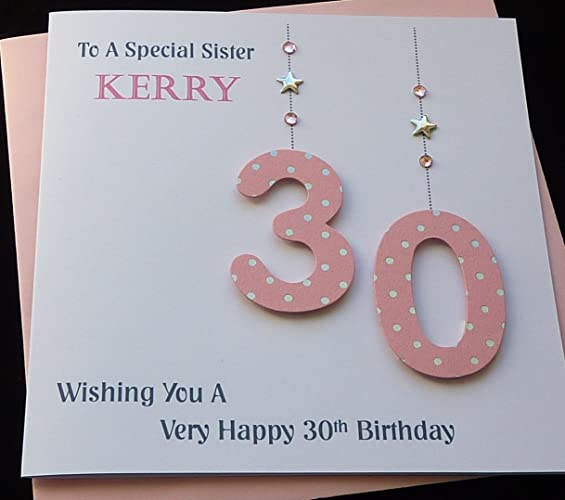Handmade personalised pink age number birthday card 21st 30th handmade personalised pink age number birthday card 21st 30th40th50th bookmarktalkfo Image collections