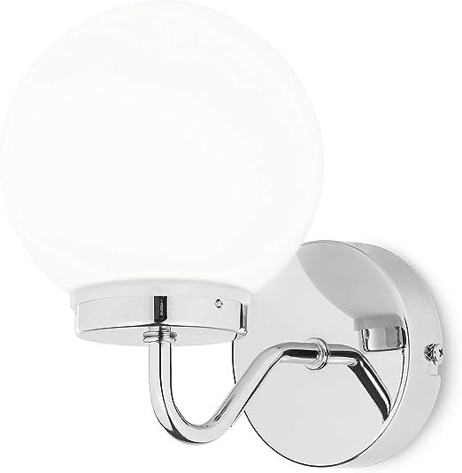 Smartwares, IWL-60005 Badezimmer Lampe, Stahl, E14, weiß