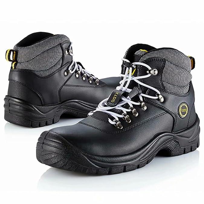 DDTX Botas De Seguridad Hombre Trabajo Zapatos de Seguridad Laboral Puntera De Acero Y Entresuela De Kevlar SBP Negro Talla 36-47: Amazon.es: Zapatos y ...