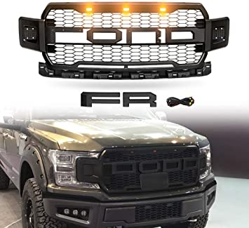 Bumper Grille Grill Cooler Grill High-Quality Front Fit Grey