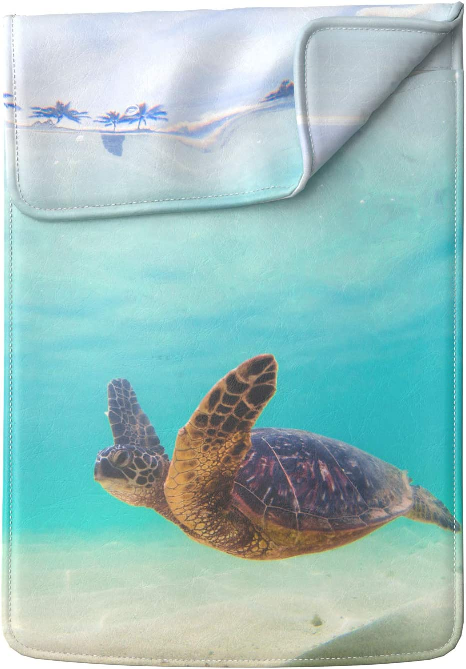 Lex Altern Laptop Sleeve Case for MacBook Air 13 Mac Pro 16 15 Retina HP Dell ASUS Acer Lenovo 11 12 14 17 inch 2020 Ocean Blue Cute Swimming Turtle Summer Sea Cover Protective Design Women Leather