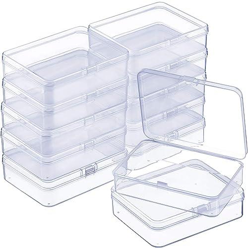 Conjunto de 12 pequeñas cajas con bisagra ideales para abalorios.