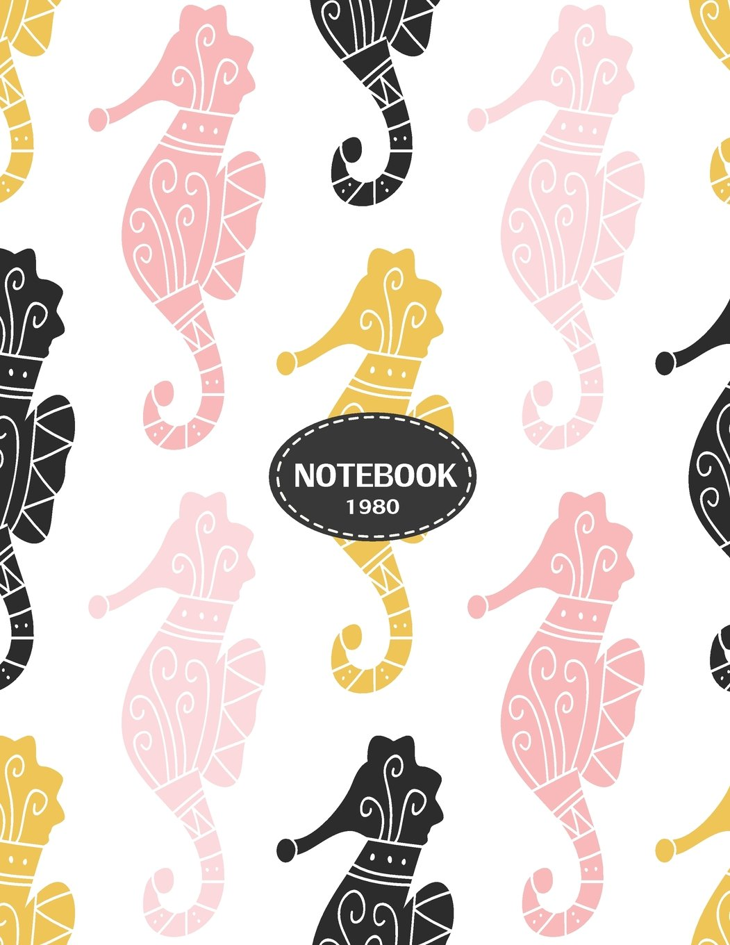 Notebook 1980: Sea horse on white cover and Dot Graph Line Sketch pages, Extra large (8.5 x 11) inches, 110 pages, White paper, Sketch, Draw and Paint (Sea horse on white notebook) (Volume 3) ebook
