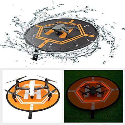 RCstyle Drones Landing Pad Universal Waterproof Large 80cm/31.5'' Protective Fast-fold Apron Compatible with DJI Mavic Pro/Mavic Air/Mavic 2 / Spark Drone Accessories: Toys & Games