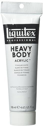 Liquitex Professional Heavy Body Acrylic Paint 138 ml tube, Titanium White