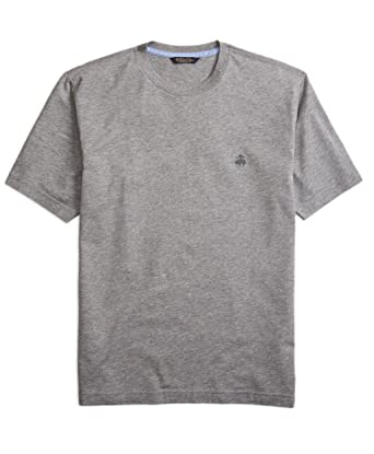 b779ebafe3c Brooks Brothers Men s Supima Cotton Monochrome Crewneck Tee T-Shirt Heather  Grey (Medium)