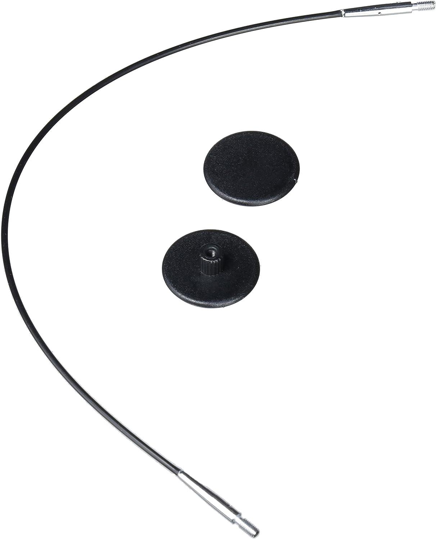 KnitPro - Agujas circulares con accesorios intercambiables, negras de 20 cm para hacer IC de 40 cm / 16 ''