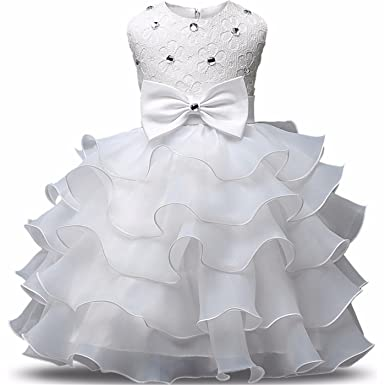 46cb36c4b8ea Image Unavailable. Image not available for. Color  Annie Flower Girl Dress  Summer 0-8 Years Floral Baby Girls Dresses Vestidos Wedding Party