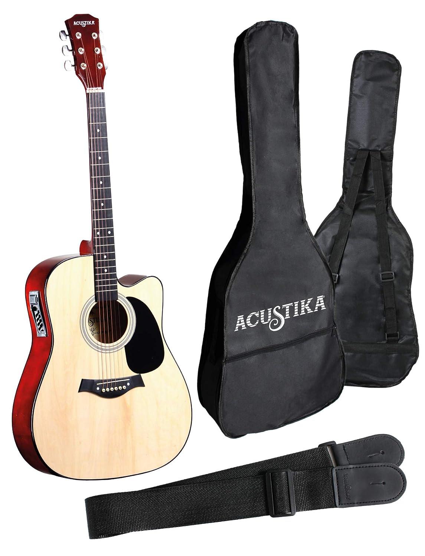 """105x40x10 ACUSTIKA F310 Chitarra Acustica cm in Legno Chitarra Acustica no cut-away misura 41/"""" colore Natural. 6 Corde in Acciaio"""