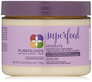 Pureology | Hydrate Superfood Treatment Hair Mask | For Dry, Color Treated Hair | Silicone-Free | Vegan |