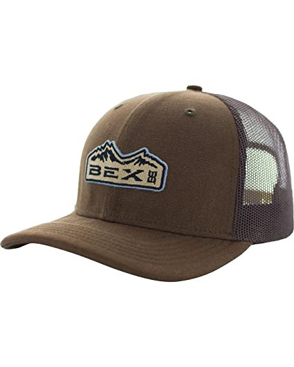 146977e3706 BEX Men s Bryce Cotton Canvas Mesh Cap Brown One Size at Amazon ...