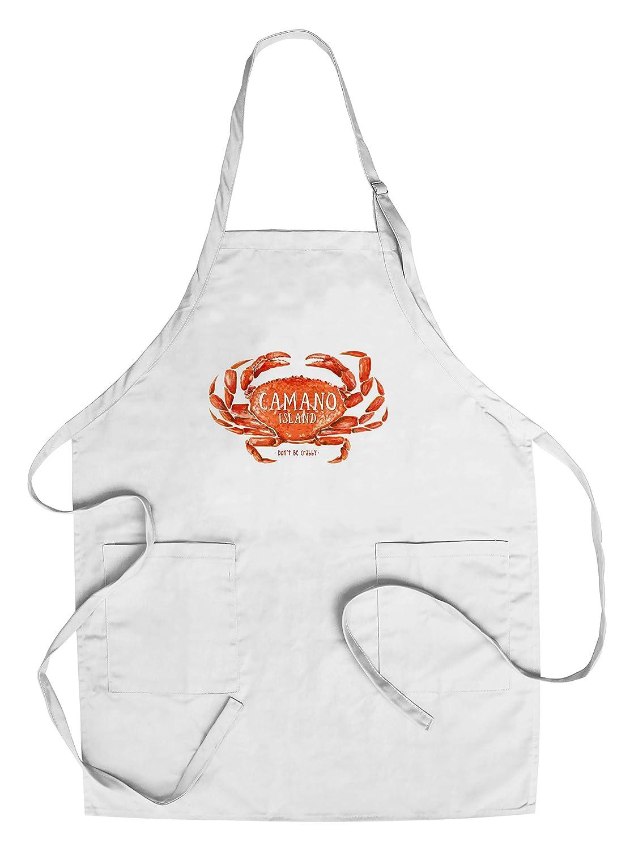 Camano島、ワシントン – ないBe Crabby – Dungeness Crab – 水彩 Chef's Apron LANT-84095-AP B0784YVZKV  Chef's Apron