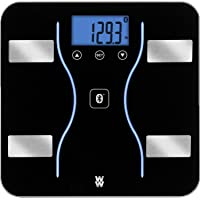 WW Scales by Conair Bluetooth Body Analysis Bathroom Scale, Measures Body Fat, Body Water, Bone Mass, Muscle Mass & BMI…