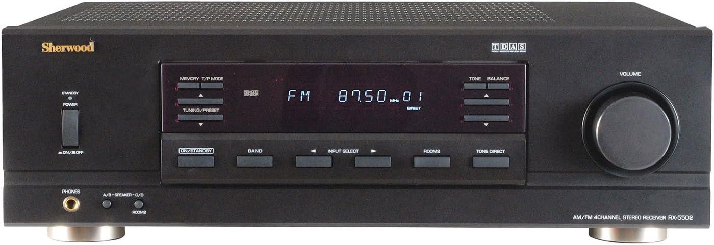 Sherwood Rx5502 100 Watt X 4 Rms Dual-Zone Stereo Receiver