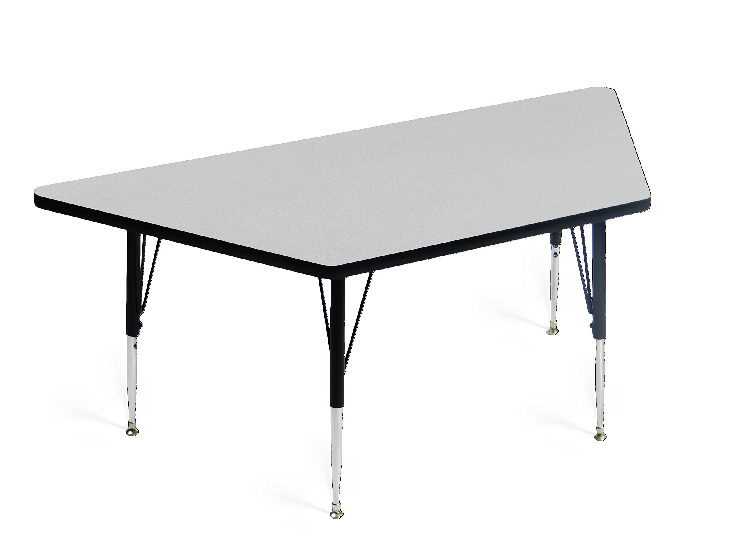 Correll A3060-TRP-15 Trapezoid Top Activity Table, 30''x60'', Gray Granite by Correll