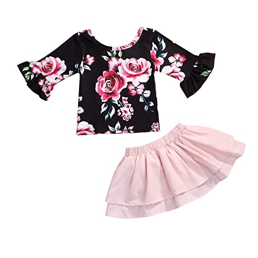 2fbf0670d Amazon.com  Infant Toddler Baby Girls Clothing Floral Dress Lace ...