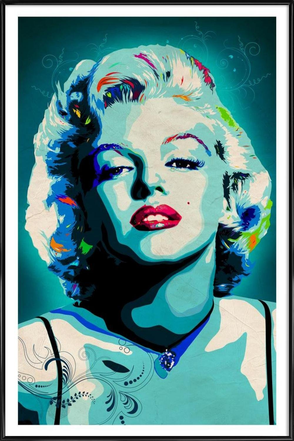 Amazon.de: JUNIQE® Bild mit Rahmen 20x30cm Marilyn Monroe Pop Art ...
