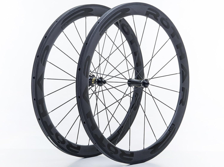 Rothar RV50-C23 Juego de Ruedas Formato Cubierta Full Carbón, Negro, Perfil: 50mm: Amazon.es: Deportes y aire libre