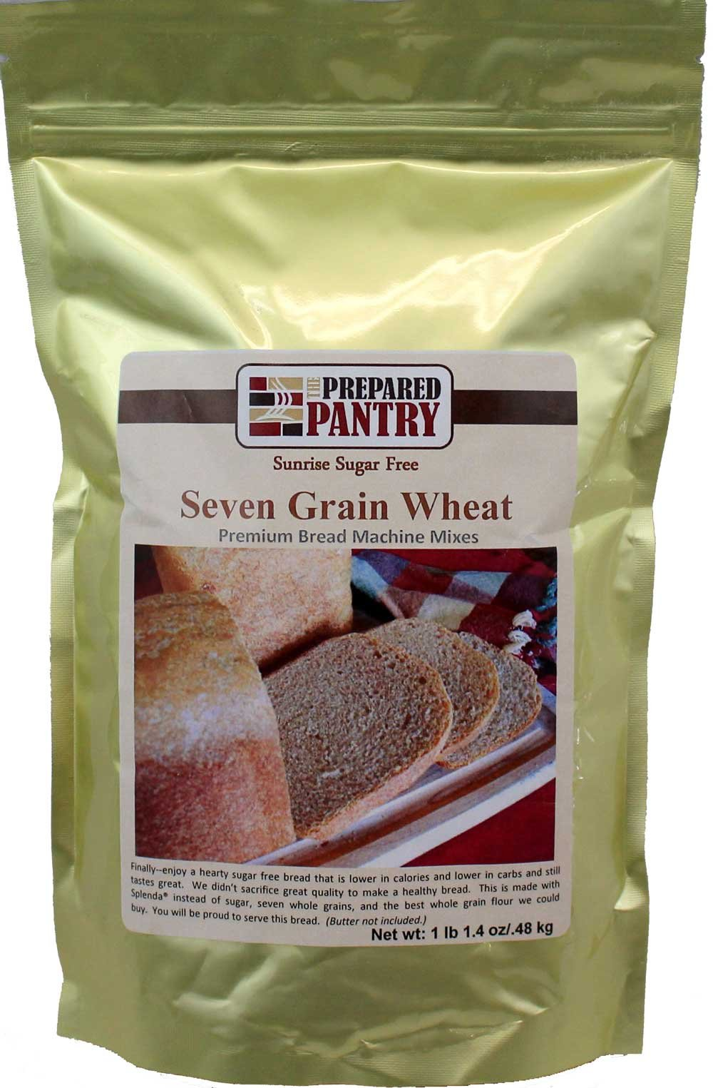 The Prepared Pantry Sunrise Sugar Free 7 Grain Wheat Gourmet Bread Machine Mix, 17.4 Ounce (Pack of 20)