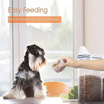 GLCON - Recipiente hermético para comida de mascotas (plástico sin BPA, dispensador de alimentos para pájaros secos y pájaros): Amazon.es: Hogar