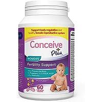 CONCEIVE PLUS Fertility Vitamins Women | 30-Day Supply | Folic Acid, D3, Zinc, Inositol | Prepare For Pregnancy Pills…