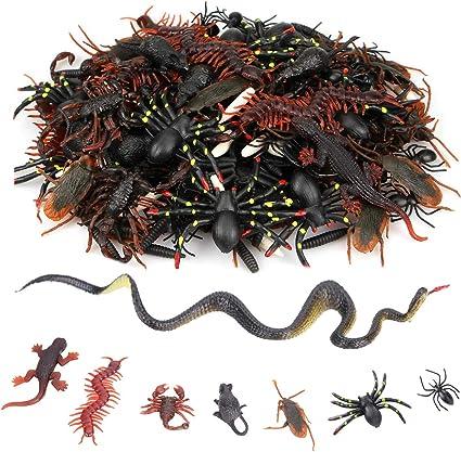 12 Plastic Insect Bug Models Halloween Jokes Pranks Kids Party Bag Filler Toy