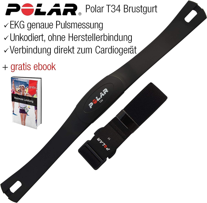 Polar Brustgurt T34 Unkodiert Pulsmesser Kompatibel Mit Allen Cardio Geräten Und Marken Keine Herstellerbindung Crosstrainer Laufband Ergometer Bike Rudergerät 100 Wasserdicht Sport Freizeit