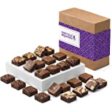 Fairytale Brownies Magic Morsel 24 Gourmet Chocolate Food Gift Basket - 1.5 Inch x 1.5 Inch Bite-Size Brownies - 24 Pieces -