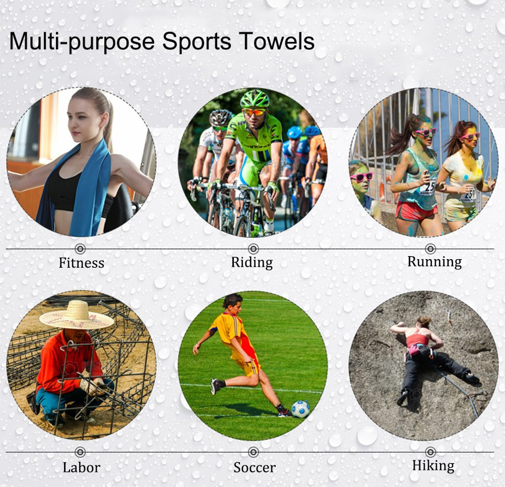 KinHwa Microfiber Fitness Gym Towel Fast Drying Workout Sweat Towels for Men and Women 3-Pack 16 inch X 31 inch