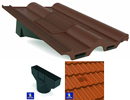 Brown Marley, Redland, Sandtoft Double Roman Roof In Line Tile Vent  Ventilator U0026
