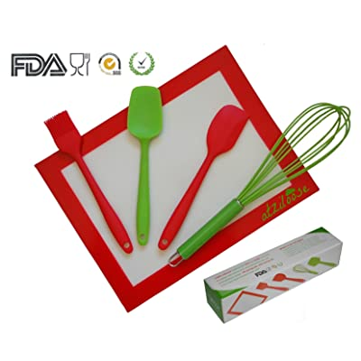 Silicone Baking Utensil Set (5 Pieces), Packaged in Gift Box
