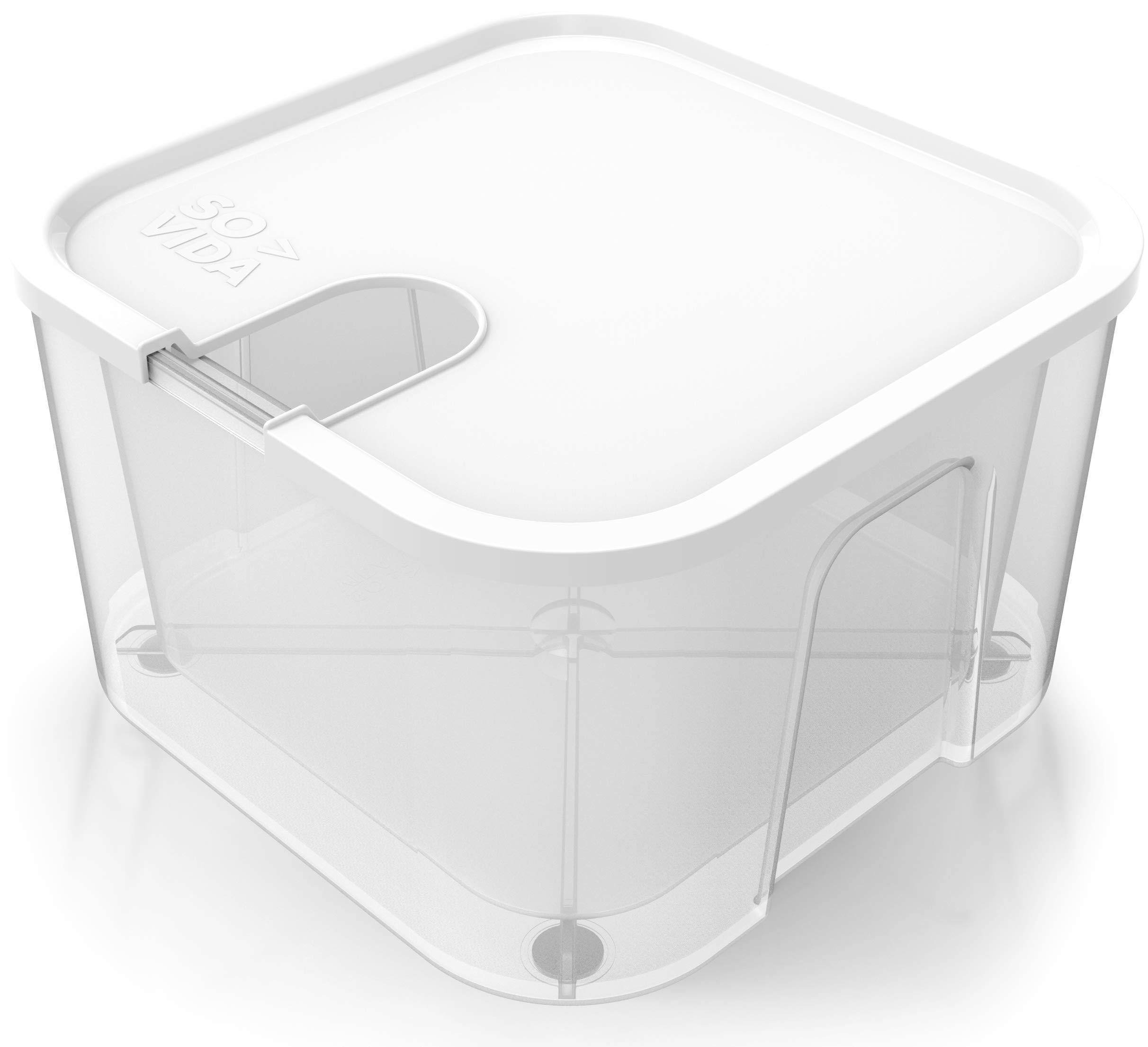 SO-VIDA Sous Vide Container For Anova Precision Cooker (not Anova Nano) - 12QT Double Walled For Extra Insulation - Raised Feet Provide Superior Work Surface Protection - Lid Included For Anova