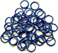 Brower 398N11CB 11/16-Inch Spiral Leg Bands, Blue (Pack of 100)