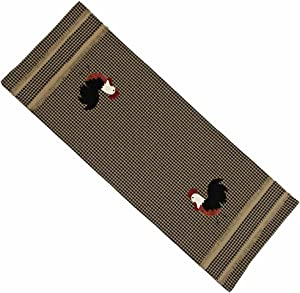 Home Collection by Raghu Rise and Shine Rooster Oat Table Runner, 14 by 36