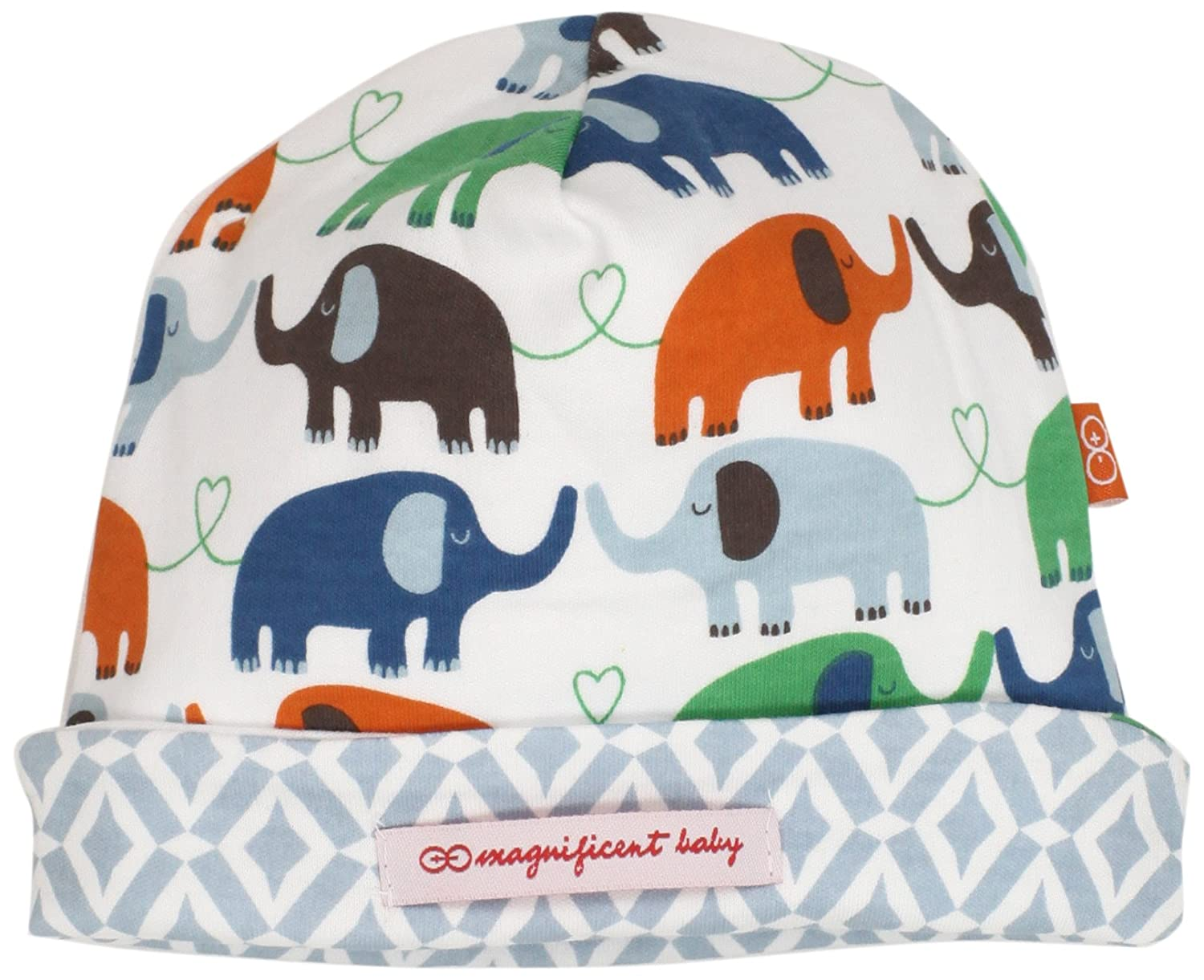 Magnificent Baby Baby-Boys Newborn Reversible Cozy Cap Marrakesh/Elephant One Size 1-Pack 1931B-OS