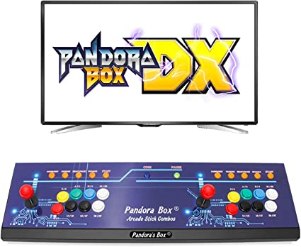 Wisamic Real Pandora's Box DX Arcade Game Console: Up to 4 Players, Save  Games Progress, Accurate Game Searching, Add Additional Games, Support PS3  PC ...