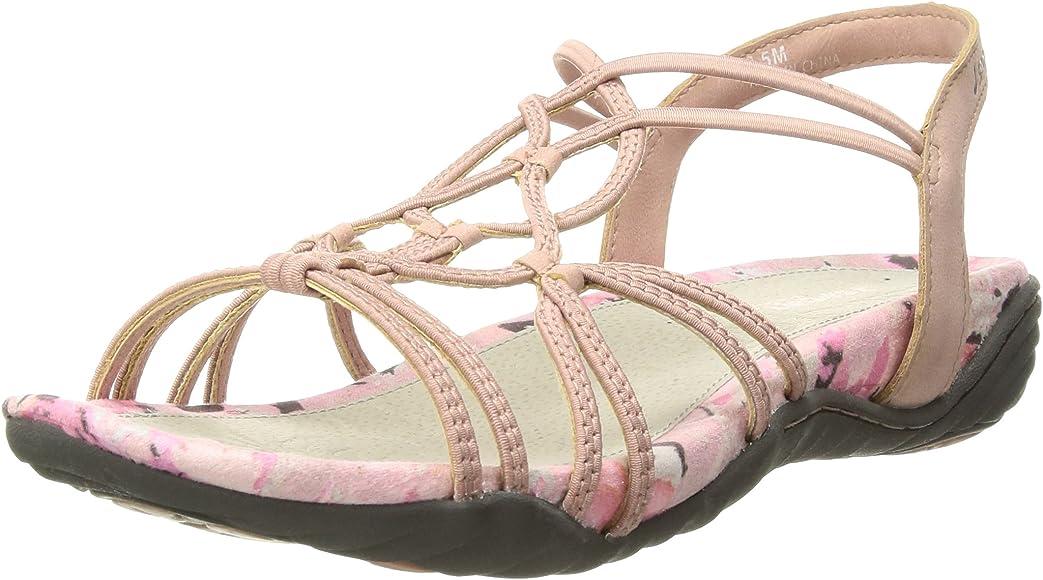 JBU by Jambu Ladies/' Sydney Flat Sandals Memory Foam Footbed