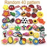 Mahoo 40 Pieces Kawaii Shoes Charms for Crocs Shoes Wristband Bracelet and Gifts