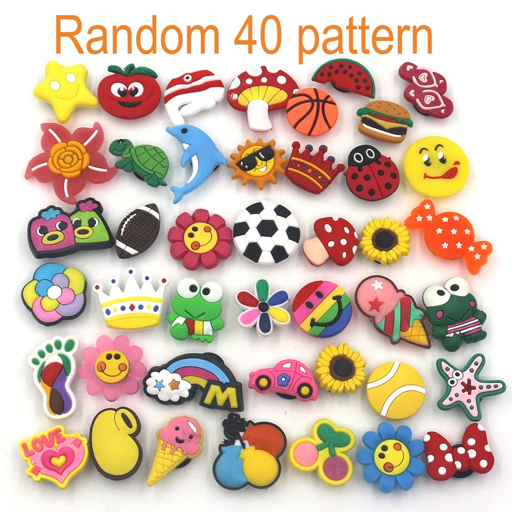 d63c1536802721 Mahoo 40 Pieces Kawaii Shoes Charms for Crocs Shoes Wristband Bracelet and  Gifts