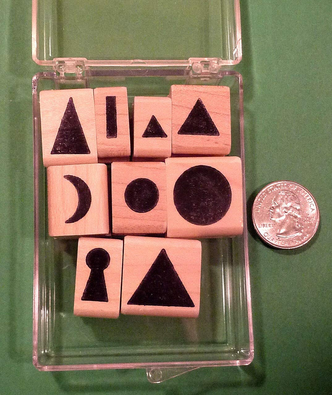 Montessori Grammar Symbols, Boxed Teacher's Set of 9 Wood Mounted Rubber Stamps - Rubber Stamp Wood Carving Blocks by Wooden Stamps