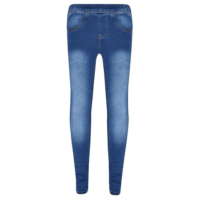 15c7afa20d80b Amazon.com: A2Z 4 Kids® Kids Stretchy Jeans Girls Denim Jeggings Pants  Trousers Leggings Age 5-13 Years: Clothing