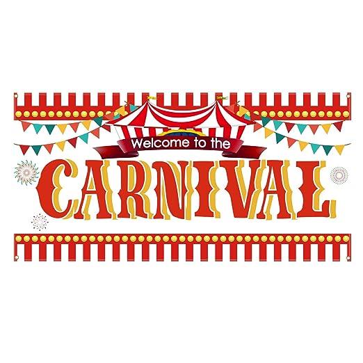 Aneco Cartel de circo de carnaval, decoración de carnaval ...