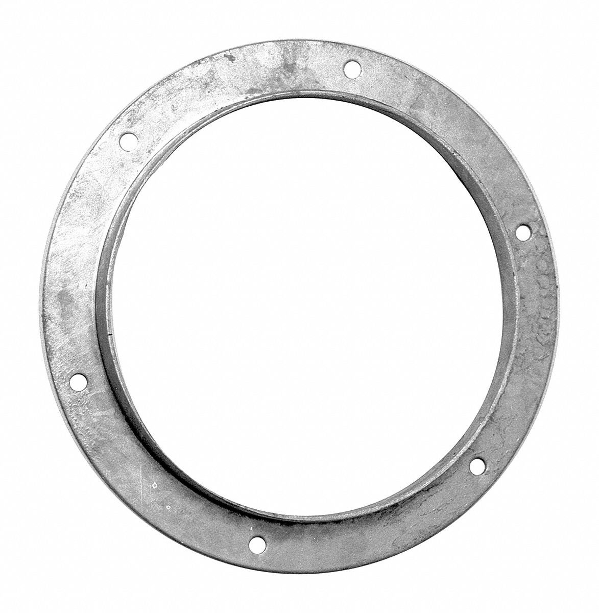Galvanized Steel Angle Flange, 10'' Duct Fitting Diameter, 1-1/4'' Duct Fitting Length