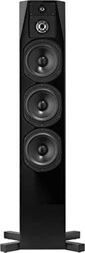 NHT C Series C-4 Floor-Standing 4-Way Tower Speaker, Single, High Gloss Black