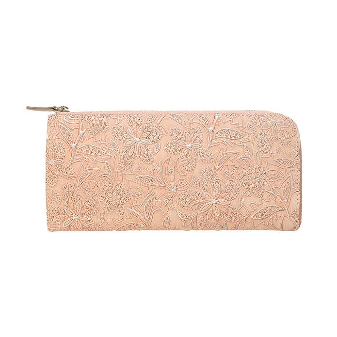 c6454bd2c724 Amazon | コラージュ クレア L字 ファスナー 長財布 ワンサイズ ピンク | ノーブランド品 | 財布