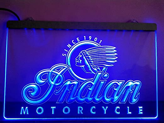 Indian Motorcycle Services LED Caracteres Publicidad Neon ...
