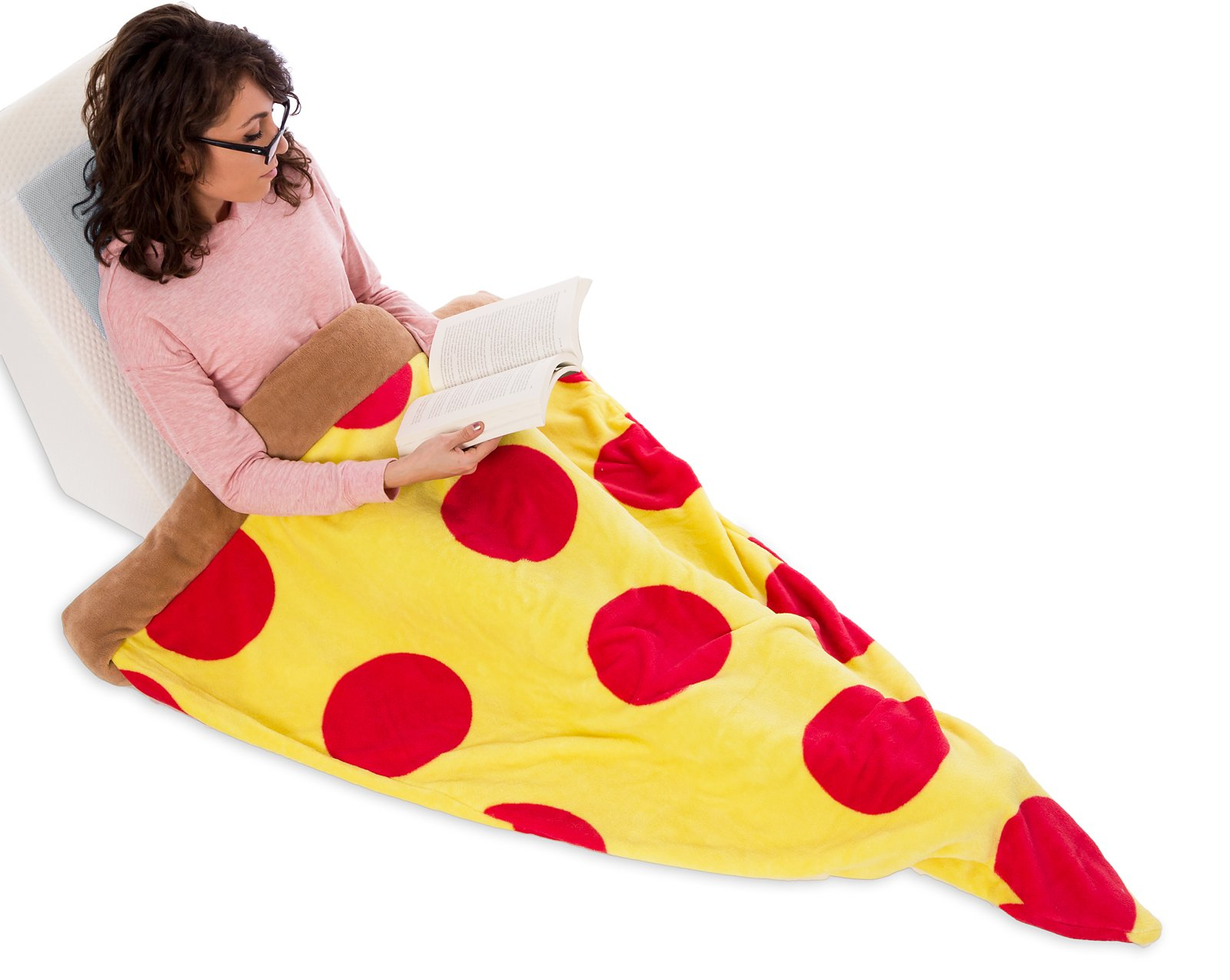 Silver Lilly Pizza Sleeping Bag - Plush Fleece Giant Pizza Slice Blanket for Kids and Adults by (Adult) by Silver Lilly (Image #3)