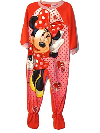 c411e4ac4 Amazon.com  Minnie Mouse Dot Jewels Girl s 3T Fleece Footed Blanket ...
